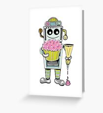 Birthday Cupcake Bake Bot Greeting Card