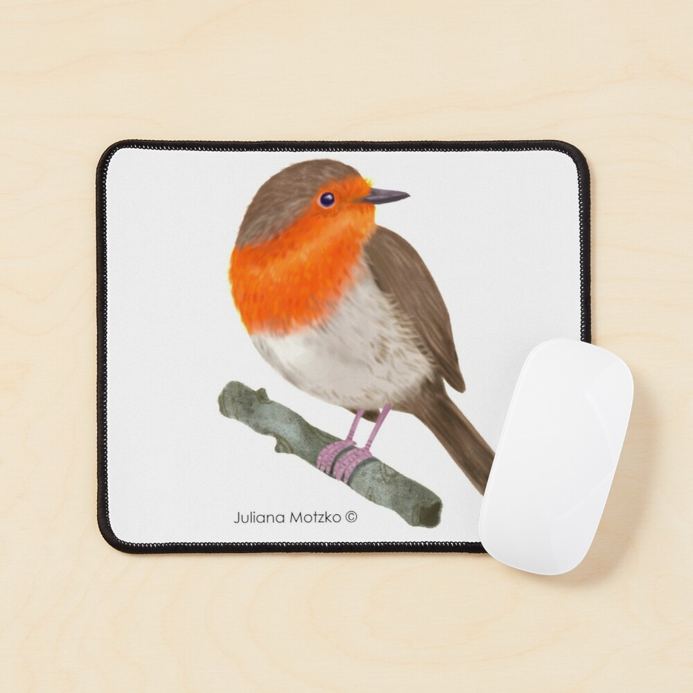 Robin Redbreast bird Mouse Pad