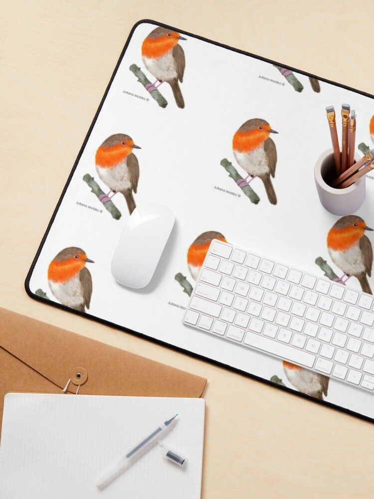 Alternate view of Robin Redbreast bird Mouse Pad