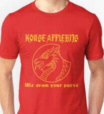 """""""We drain your purse"""" being the words of House Applebits Unisex T-Shirt"""