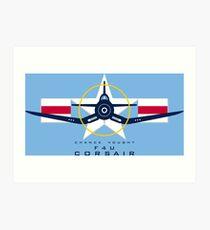 F4U Corsair Warbird Graphic1 Art Print