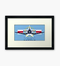 F4U Corsair Warbird Graphic1 Framed Print