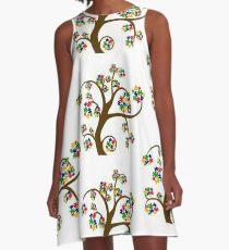 TREE OF AUTISIM A-Line Dress