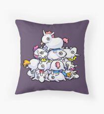Pile of Unicorns Throw Pillow