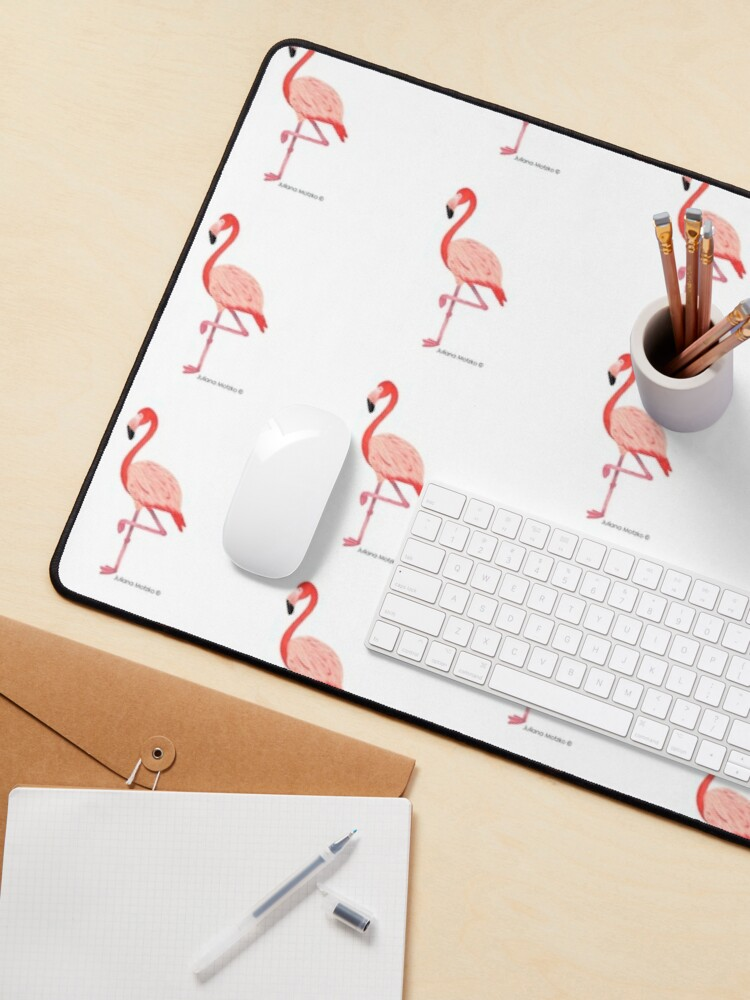 Alternate view of Flamingo Mouse Pad