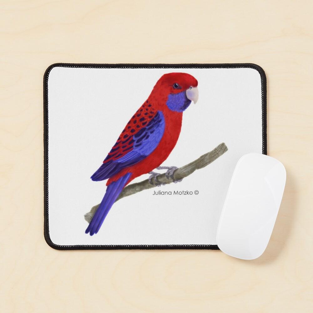 Crimson Rosella Bird Mouse Pad