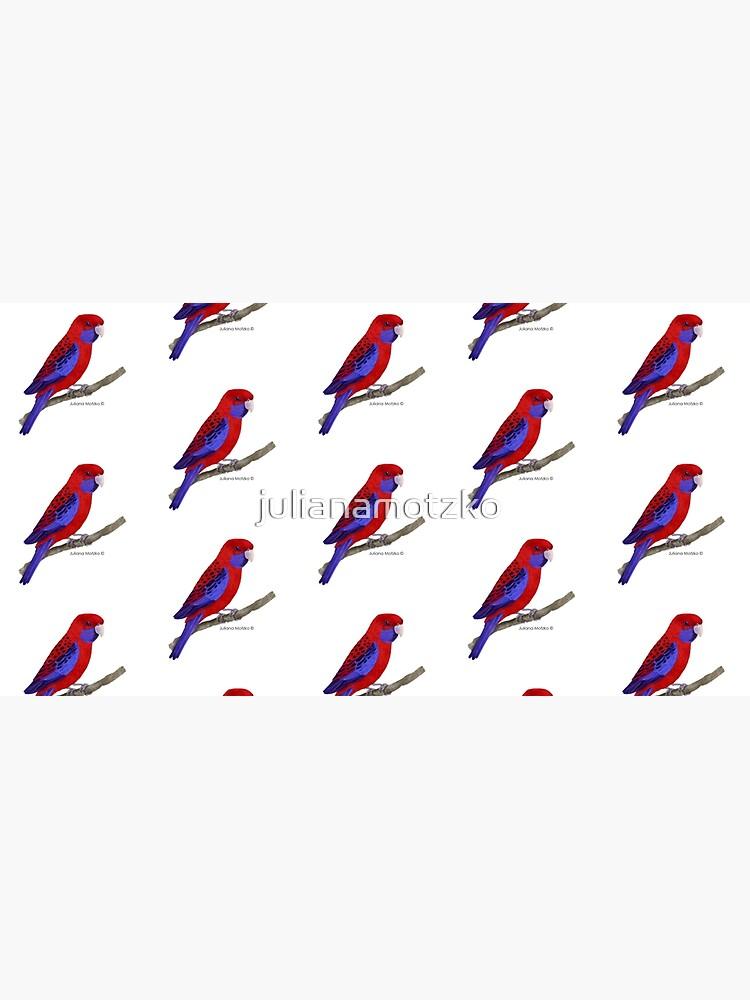 Crimson Rosella Bird by julianamotzko