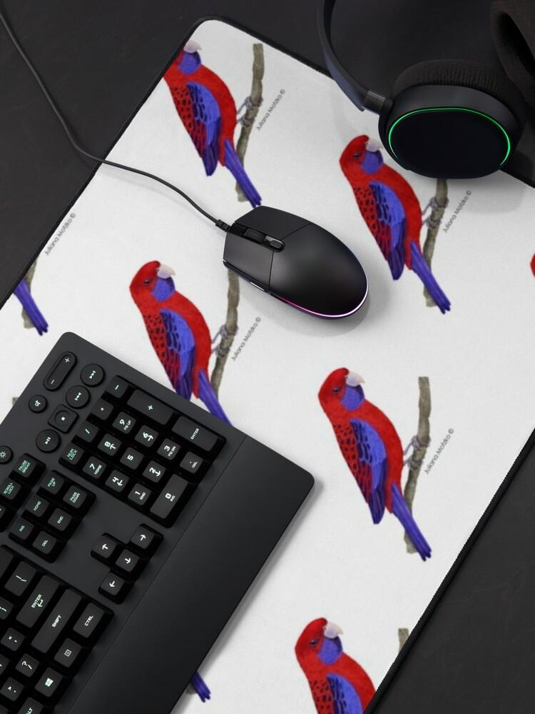 Alternate view of Crimson Rosella Bird Mouse Pad