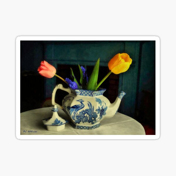 Tulip Teapot Sticker
