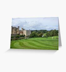 Putting at Leeds Castle Golf Course Greeting Card