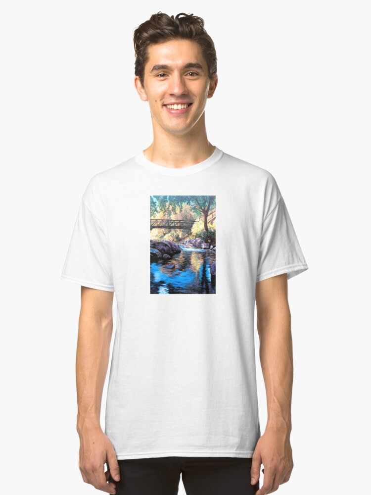 Alternate view of Boulder Creek Bridge - Late Afternoon Classic T-Shirt