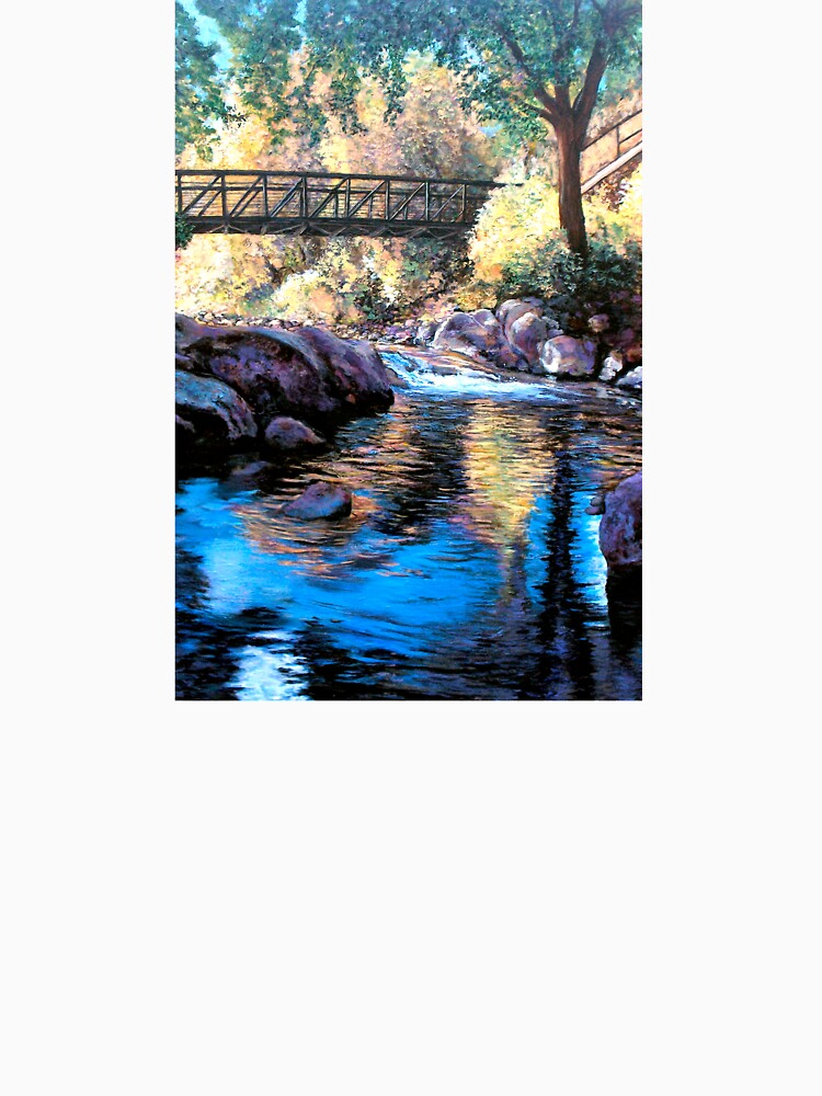 Boulder Creek Bridge - Late Afternoon by donnaroderick