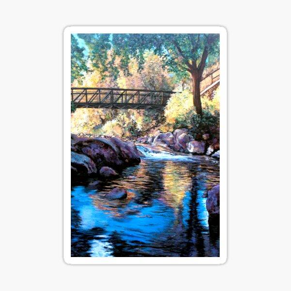 Boulder Creek Bridge - Late Afternoon Sticker