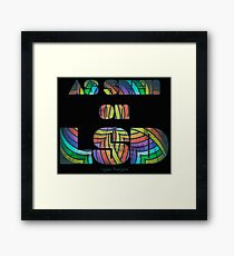 Retro Cool Party Psychedelic LSD Design  Framed Print