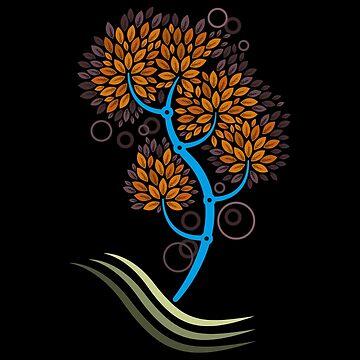 Árbol solitario de Letter-Q
