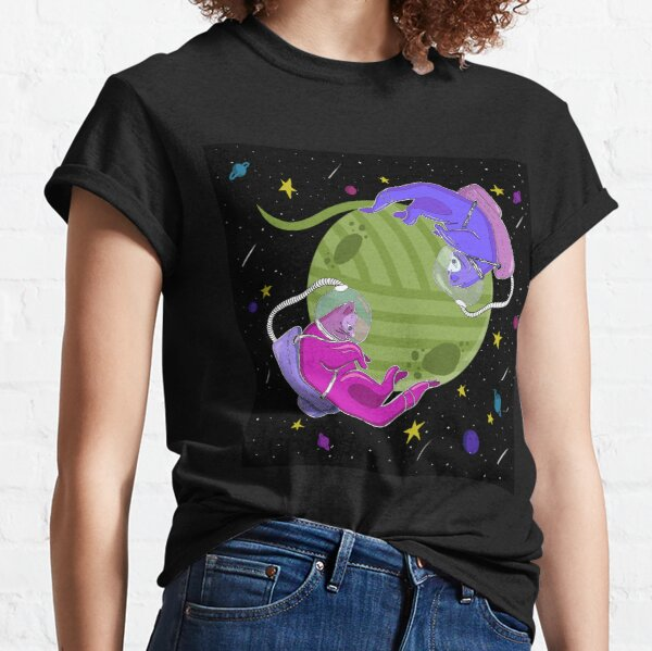 Süße Katzen im Weltraum Classic T-Shirt