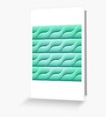 Retro geometric background Greeting Card