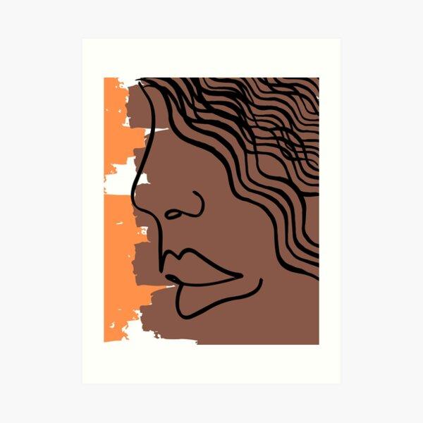 LADY ART Art Print