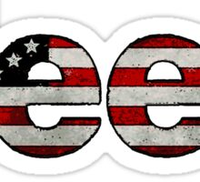 Jeep all American flag words Sticker