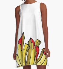 FRENCH FRIES A-Line Dress