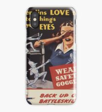 Vintage poster - Workplace safety iPhone Case/Skin