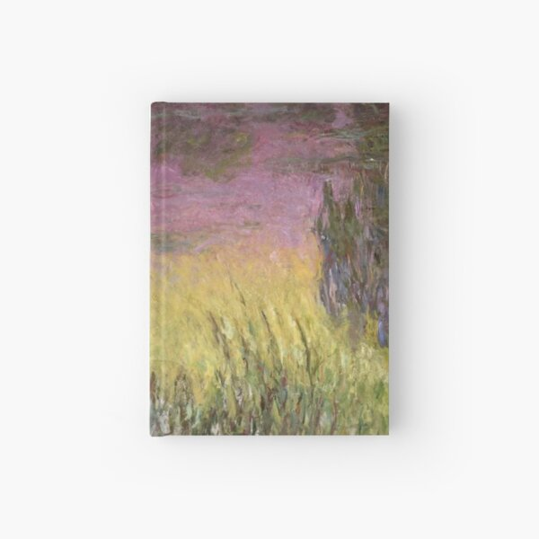 Waterlilies At Sunset Hardcover Journal