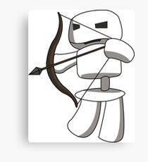 Skeleton Archer For Minecraft  Canvas Print
