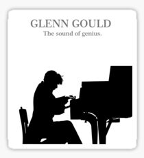 Glenn Gould, the pianist, piano Pegatina