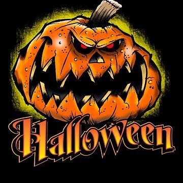 Scary Jack-'o-Lantern Halloween by BuzzArtGraphics