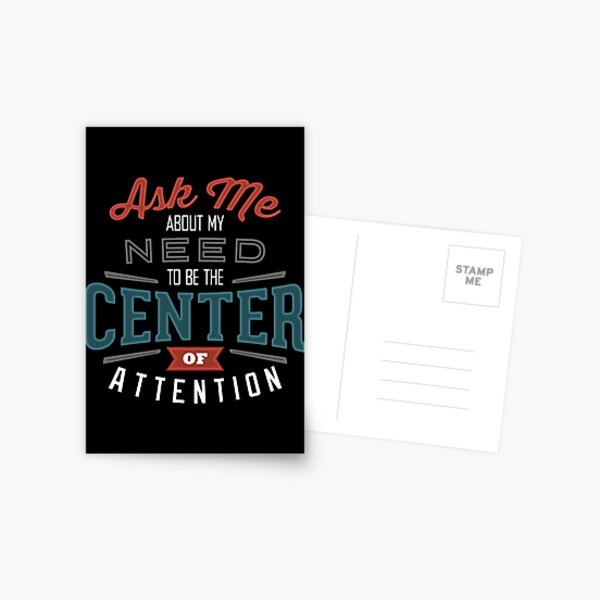 Center of Attention Postcard