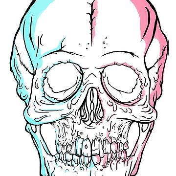 Tutti-frutti 3D Skull by Pikeiros