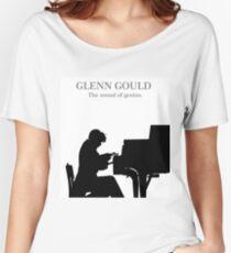 Glenn Gould, the pianist, piano Camiseta ancha para mujer
