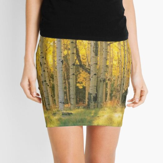 Aspen Trees In A Forest Coconino National Forest Mini Skirt