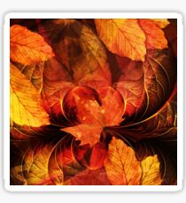 Apoptosis: The Fractal Geometry of Falling Leaves Sticker