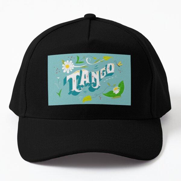 Argentine Tango Fieteado Porteno Aqua Blue Floral Banner Baseball Cap