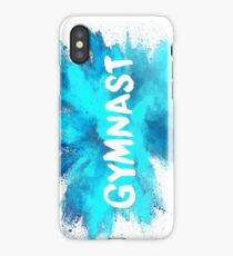 Gymnast - Blue Explosion  iPhone Case