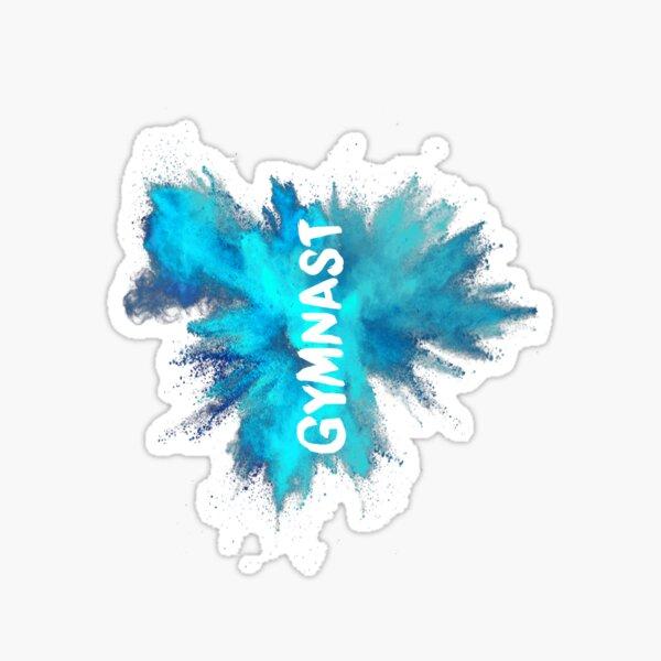 Gymnast - Blue Explosion  Sticker