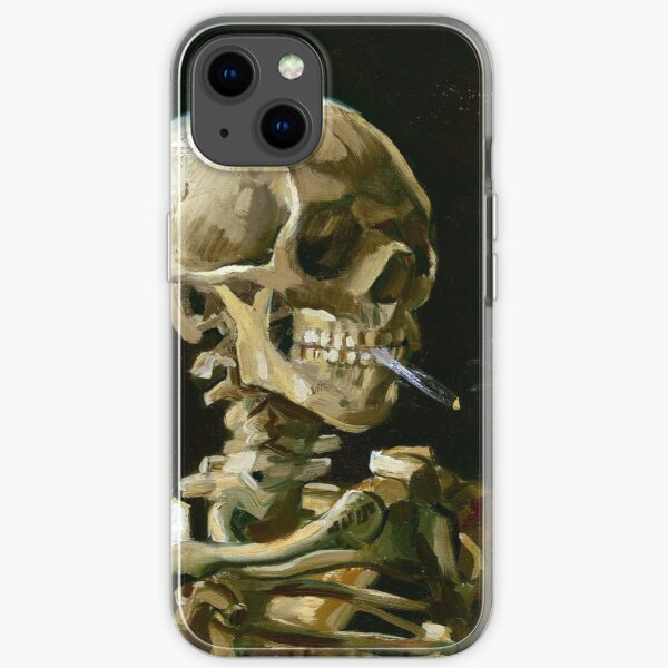 Vincent van Gogh Head of a Skeleton with a Burning Cigarette iPhone Soft Case