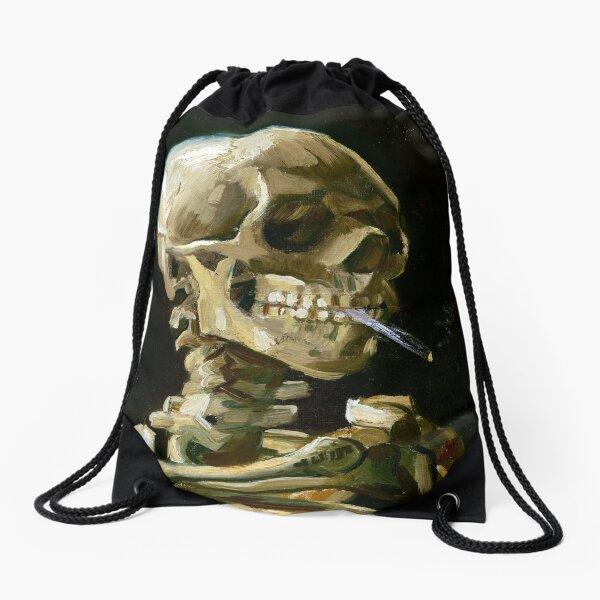 Vincent van Gogh Head of a Skeleton with a Burning Cigarette Drawstring Bag