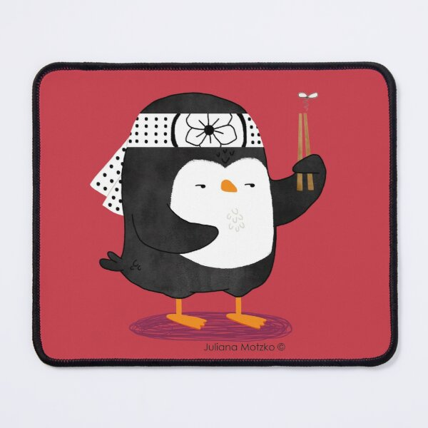 Karate Penguin Mouse Pad