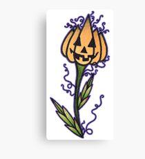 Jack-o-Lantern Flower Canvas Print