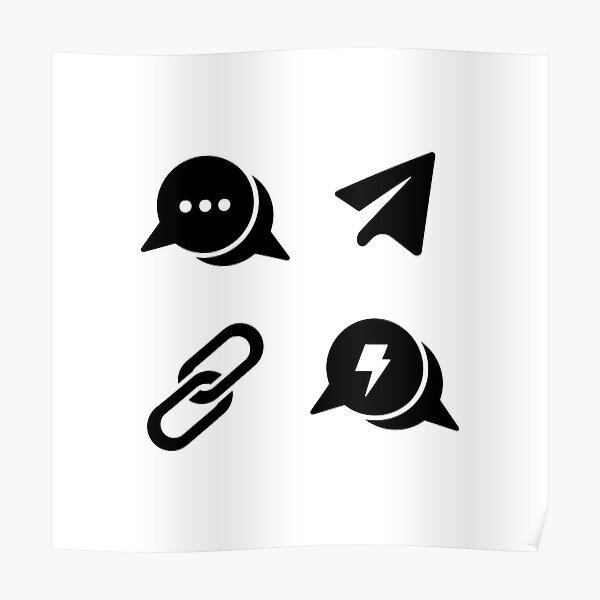 Social Network Symbols Poster