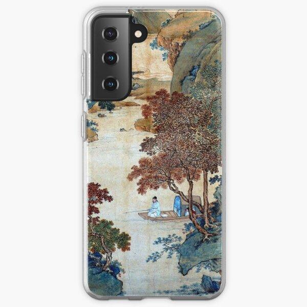 Qiu Ying Fishing under Chinese Sweet Gums Samsung Galaxy Soft Case