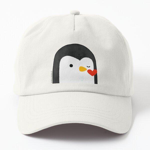 Penguin Kiss Emoji Dad Hat