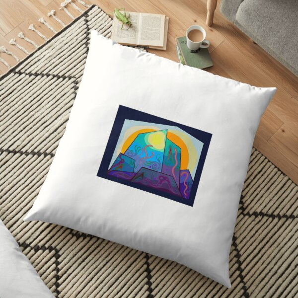 Imaginary Sea Life Floor Pillow