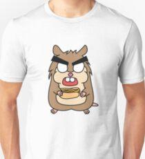 angry zombie hamster with a hotdog Unisex T-Shirt
