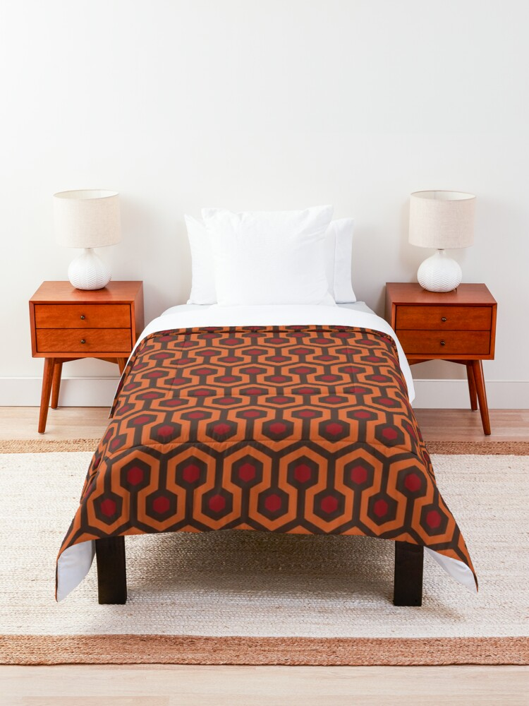 Alternate view of REDRUM Overlook Hotel Carpet The Shining Comforter