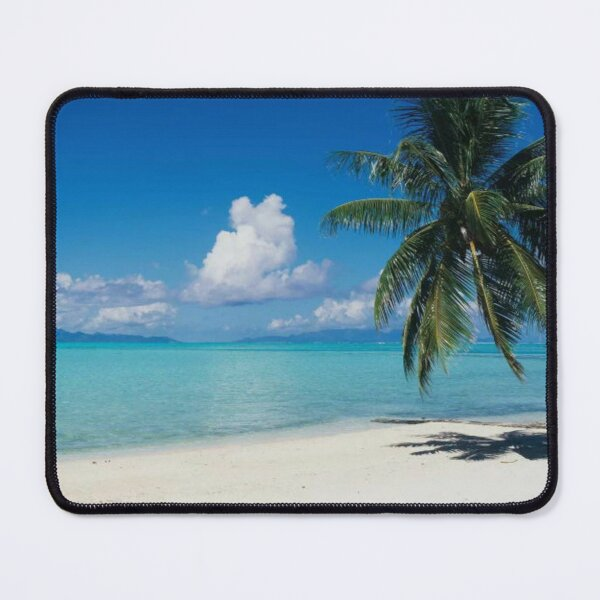 Palm Tree On The Beach Moana Beach Bora Bora Mouse Pad
