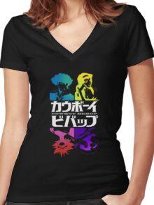 Cowboy Bebop - Bebop Crew Women's Fitted V-Neck T-Shirt