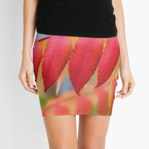 Red Leaves Of A Virginia Sumac Mini Skirt